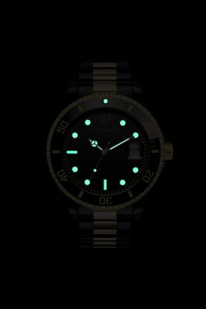 Palermo Black/Gold Steel Watch