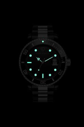 Palermo Black/Silver Steel Watch