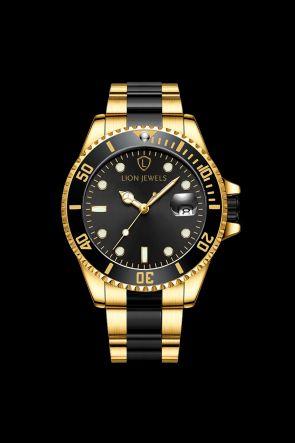 Palermo Gold/Black Steel Watch