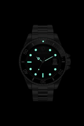 Palermo Silver/Black Steel Watch