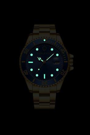 Palermo Gold/Blue Steel Watch