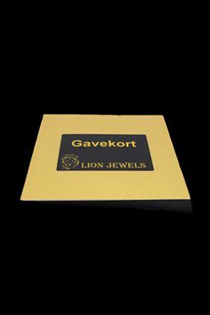 Lion Jewels & Fashion - Gavekort værdi 25-2000,00 kr.