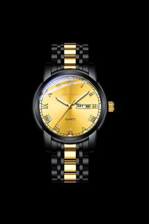 Genoa Black/Gold Steel Watch