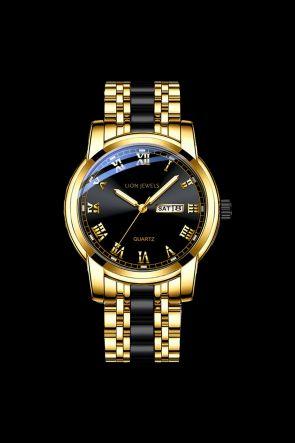 Genoa Gold/Black Steel Watch